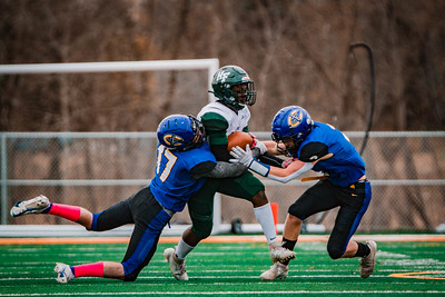 Holy Family Football beat St. Cloud Cathedral 21-11 on Saturday, October 31, 2020 at St. Cloud Tech High School. Collin Nawrocki / The Phoenix