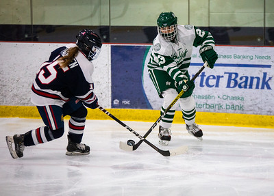 Holy Family Girls Hockey tied the Orono Spartans 2-2 on Thursday, January 16, 2021 at the Victoria Recreation Center