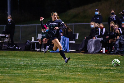 Holy Family girls soccer beat Cannon Falls 9-0 to advance to the next round of sections on Tuesday October 13, 2020 at Holy Family Catholic High School. Collin Nawrocki / The Phoenix