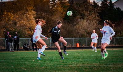 Holy Family girls soccer lost to Mankato West 2-1 in overtime ending their 2020 season on Thursday October 15, 2020 at Holy Family Catholic High School. Collin Nawrocki / The Phoenix
