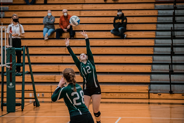 Holy Family Volleyball fell to Orono 3-0 on Thursday, November 12, 2020 at Holy Family Catholic High School. Collin Nawrocki / The Phoenix