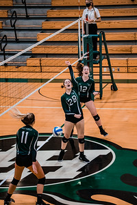 Holy Family Volleyball fell to Orono 3-0 on Thursday, November 12, 2020 at Holy Family Catholic High School. Collin Nawrocki / The Phoenix