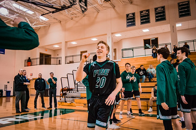 Holy Family Boys Basketball Section Quarterfinal vs. Watertown Mayer Mar 7, 2019: Brendan O'Connor '19 (20)
