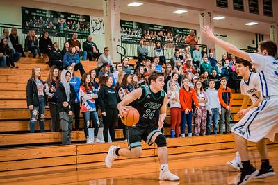 Holy Family Boys Basketball Section Quarterfinal vs. Watertown Mayer Mar 7, 2019: Ryan Bowlin '19 (24)