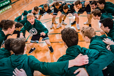 Holy Family Boys Basketball Section Quarterfinal vs. Watertown Mayer Mar 7, 2019: Rory Johnson '20 (14)