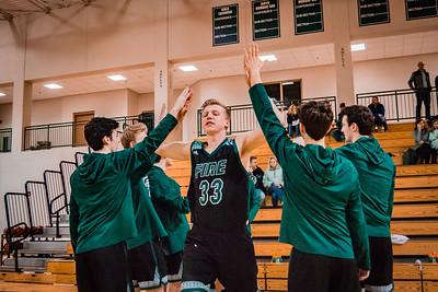 Holy Family Boys Basketball Section Quarterfinal vs. Watertown Mayer Mar 7, 2019: Reid Stark '19 (33)