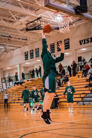 Holy Family Boys Varsity Basketball vs. Annandale Dec 20, 2018: Seth Thompson '20 (50)
