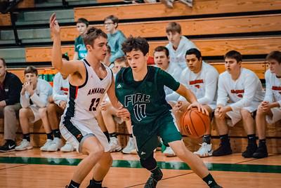 Holy Family Boys Varsity Basketball vs. Annandale Dec 20, 2018: Sam McNulty '20 (11)