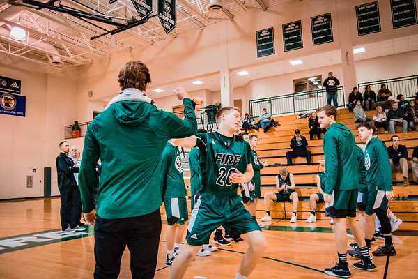 Holy Family Boys Varsity Basketball vs. Annandale Dec 20, 2018: Brendan O'Connor '19 (20)