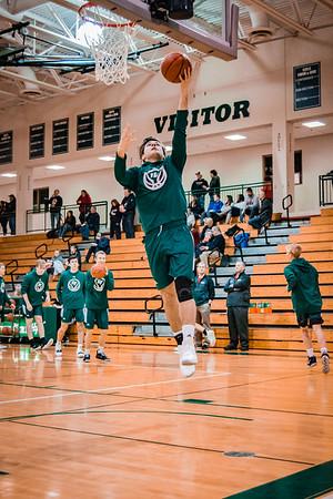 Holy Family Boys Varsity Basketball vs. Annandale Dec 20, 2018: Ryan Bowlin '19 (24)