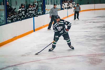 Holy Family Boys Varsity Hockey Section Playoff vs. Prior Lake  Feb 21, 2019: Lucas Jorgenson '20 (16)