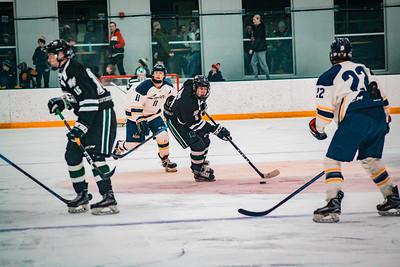 Holy Family Boys Varsity Hockey Section Playoff vs. Prior Lake  Feb 21, 2019: Sawyer Schugel '19 (3)