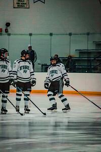 Holy Family Boys Varsity Hockey vs. Edina Nov 23, 2018: Spencer Lewin '21 (18)