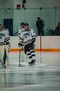 Holy Family Boys Varsity Hockey vs. Edina Nov 23, 2018: Captain Michael Spinner '19 (20)