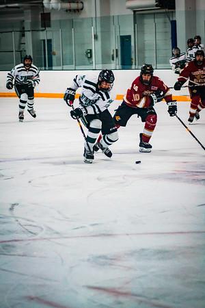 Holy Family Boys Varsity Hockey vs. Lakeville South Dec 28, 2018: Captain Garrett Pinoniemi '20 (13)