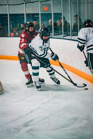 Holy Family Boys Varsity Hockey vs. Lakeville South Dec 28, 2018: Lucas Jorgenson '20 (16)
