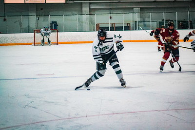 Holy Family Boys Varsity Hockey vs. Lakeville South Dec 28, 2018: Ben Reddan '21 (6)