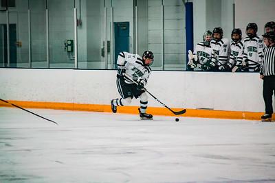 Holy Family Boys Varsity Hockey vs. Lakeville South Dec 28, 2018: Captain Nikolai Charchenko '19 (15)