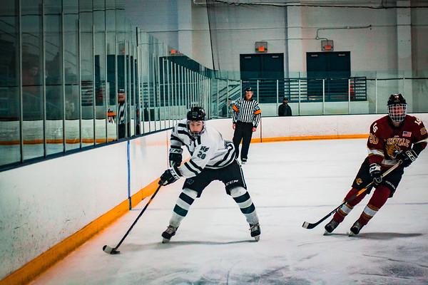 Holy Family Boys Varsity Hockey vs. Lakeville South Dec 28, 2018: Captain Michael Spinner '19 (20)