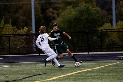 Holy Family Varsity Soccer vs. Monticello Oct 11, 2018: Joe Fasching '19 (20)