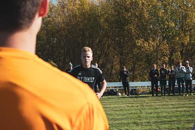 Holy Family Varsity Soccer vs. Mound Westonka Oct 13, 2018: Thomas Aragon-Menzel '20 (18)