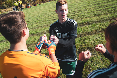 Holy Family Varsity Soccer vs. Mound Westonka Oct 13, 2018: Ben Creager '20 (26)