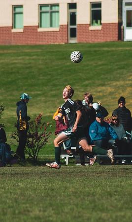 Holy Family Varsity Soccer vs. Mound Westonka Oct 13, 2018: Bishop Schugel '21 (11)