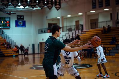 Holy Family Boys Varsity Basketball vs. Brooklyn Center, 12/5/19: Jake Kirsch '21 (12)