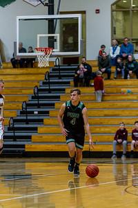 Holy Family Varsity Boys Basketball vs. Jordan, 1/23/20: David Torborg '20 (4)