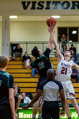 Holy Family's Jake Kirsch '21 (12) vs. New Prague - Collin Nawrocki/The Phoenix
