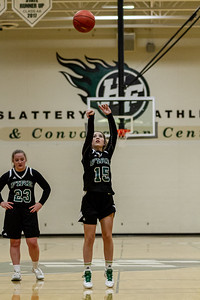 Holy Family Varsity Girls Basketball vs. Delano, 1/10/20: Reagan Cizek '22 (15)