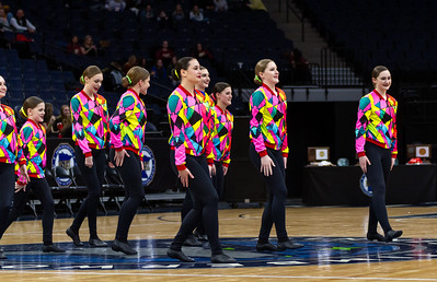 Holy Family Dance Team at 2020 MSHSL State Kick Tournament Prelim - Collin Nawrocki/The Phoenix