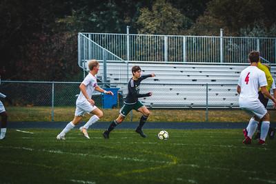 Holy Family Boys Varsity Soccer Section 6A Quarterfinal vs. Monticello, 10/10/19: Finn Dowling '21 (7)
