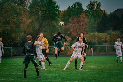 Holy Family Boys Varsity Soccer Section 6A Quarterfinal vs. Monticello, 10/10/19: Eric Oconitrillo '23 (18)