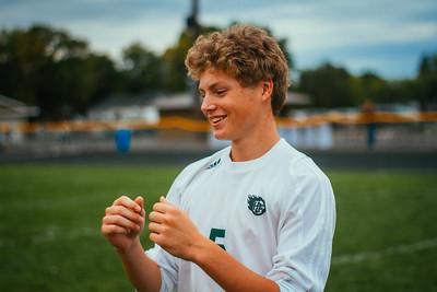 Holy Family Boys Varsity Soccer vs. Hutchinson, 9/26/19: Ryder Ferguson '22 (5)