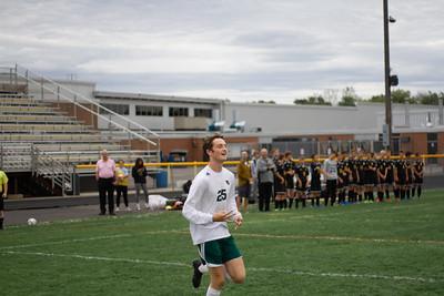 Holy Family Boys Varsity Soccer vs. Hutchinson, 9/26/19: Gavin Lund '21 (25)