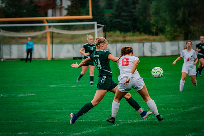 Holy Family Girls Varsity Soccer vs. Shakopee, 9/21/19: Maeve Kelly '22 (14)