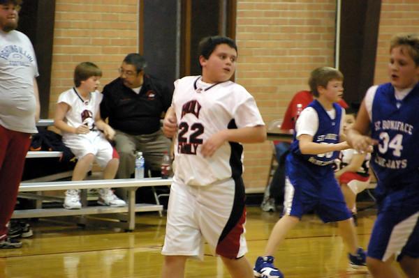 Holy Family Hawks Basketball 6th Grade versus St. Boniface