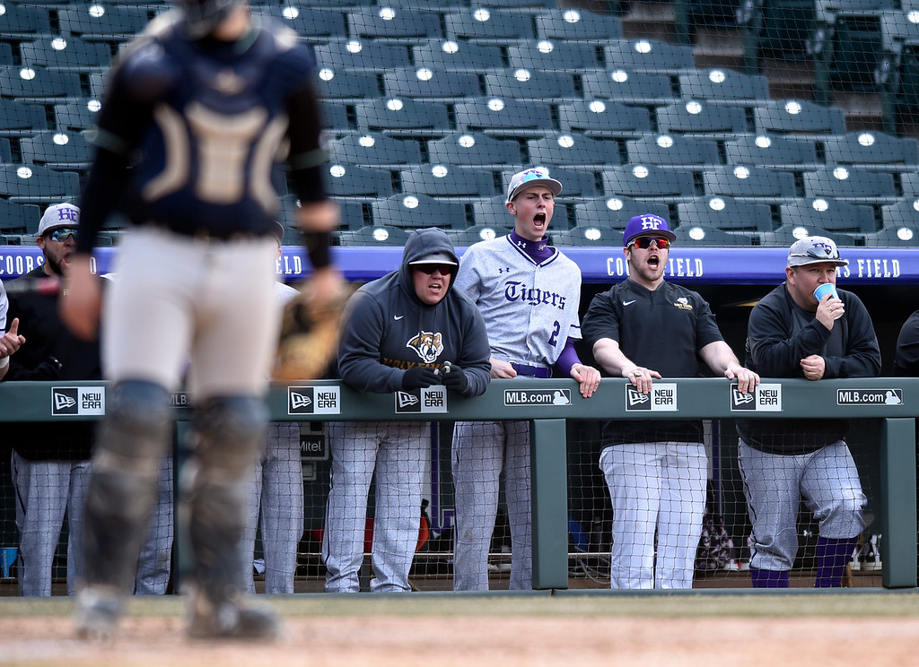 . DENVER, CO - MARCH 18, 2019: Holy Family High School\'s during a non-conference game against Conifer on Monday at Coors Field in Denver. For more photos of the game go to: BoCoPreps.com (Photo by Jeremy Papasso/Staff Photographer)
