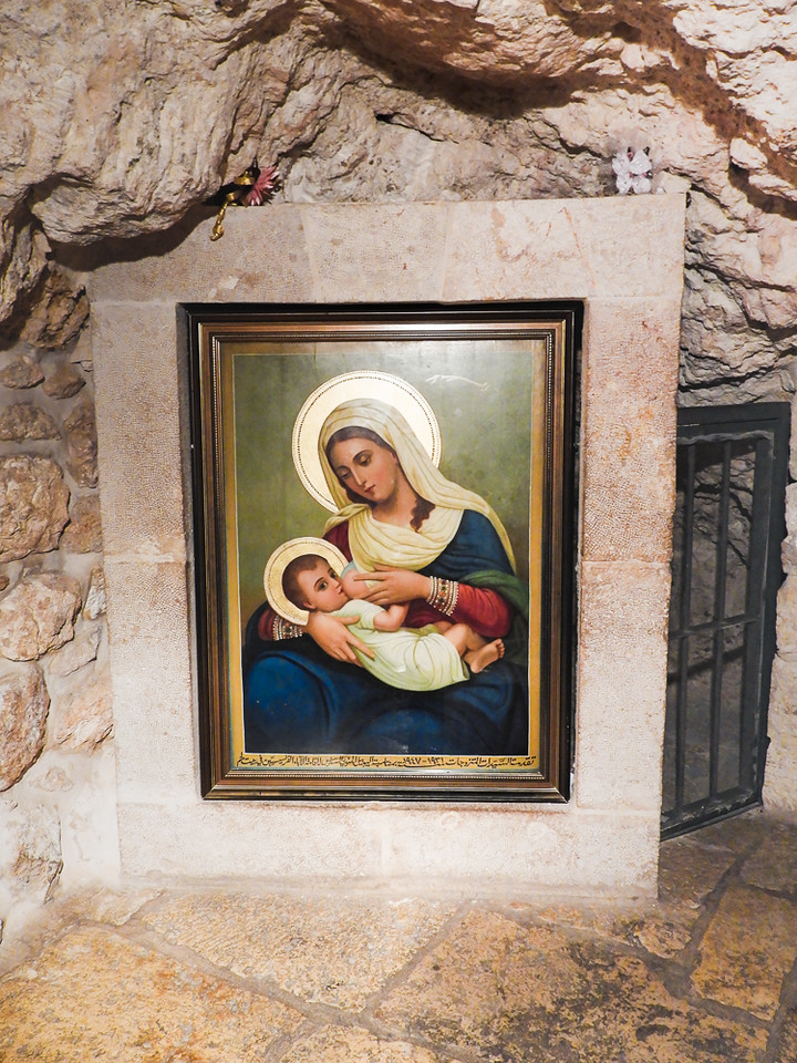 Painting in the Milk Grotto