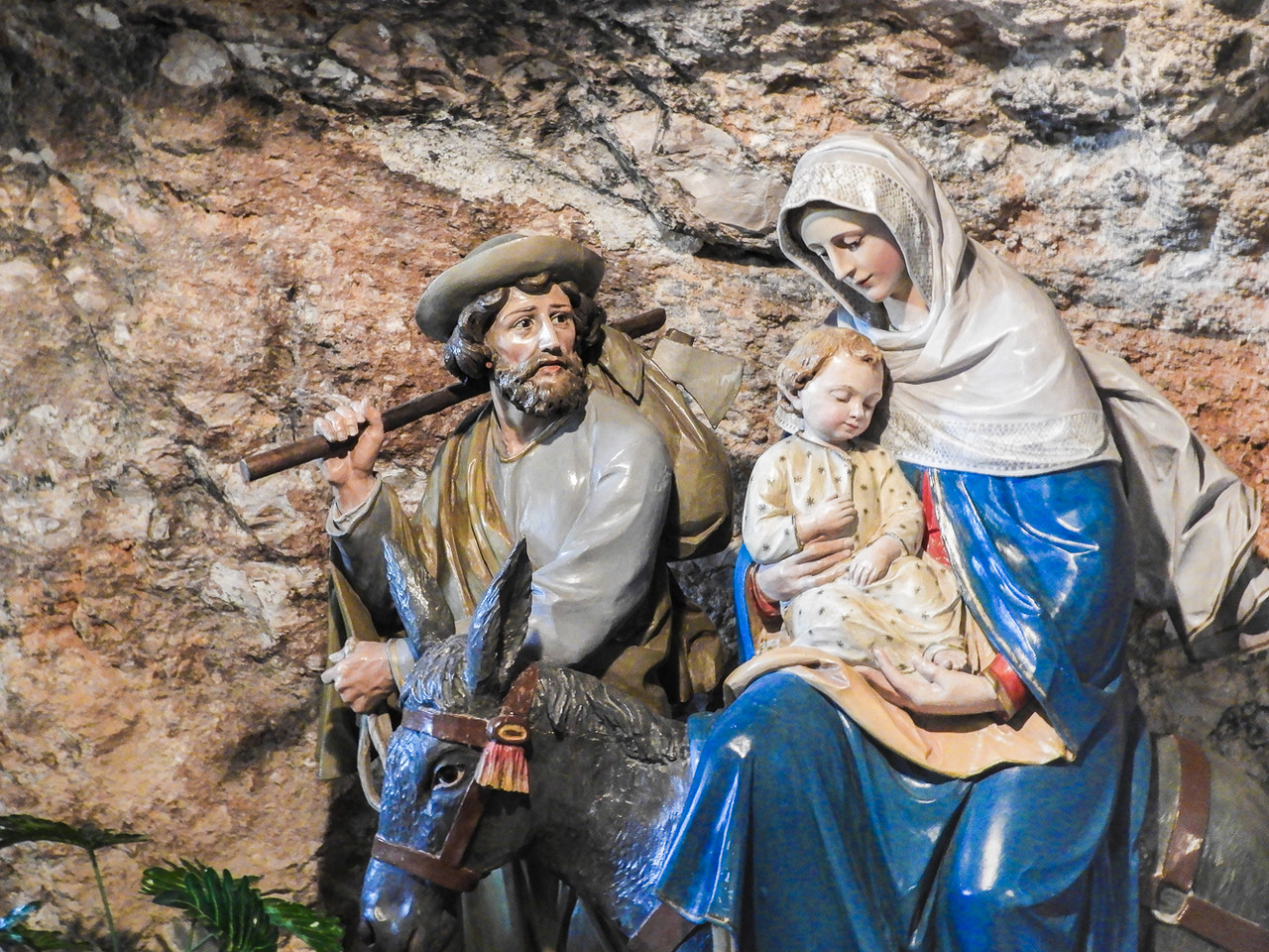 The Holy family in the Milk Grotto