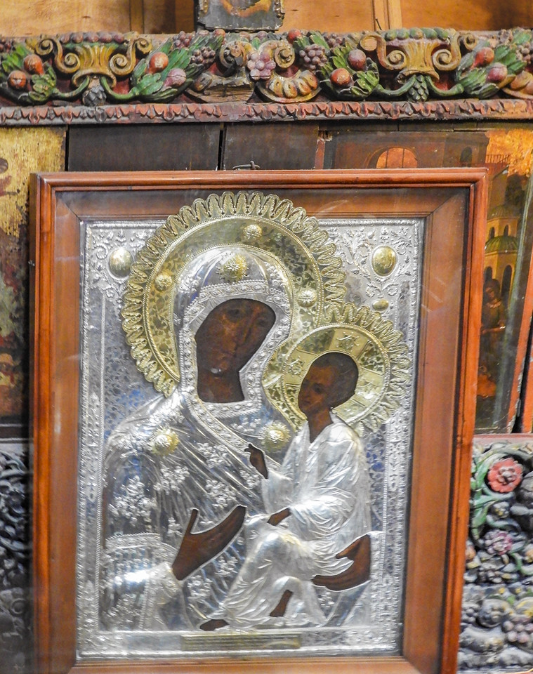 BLACK Mary and Jesus at the Church of the Nativity