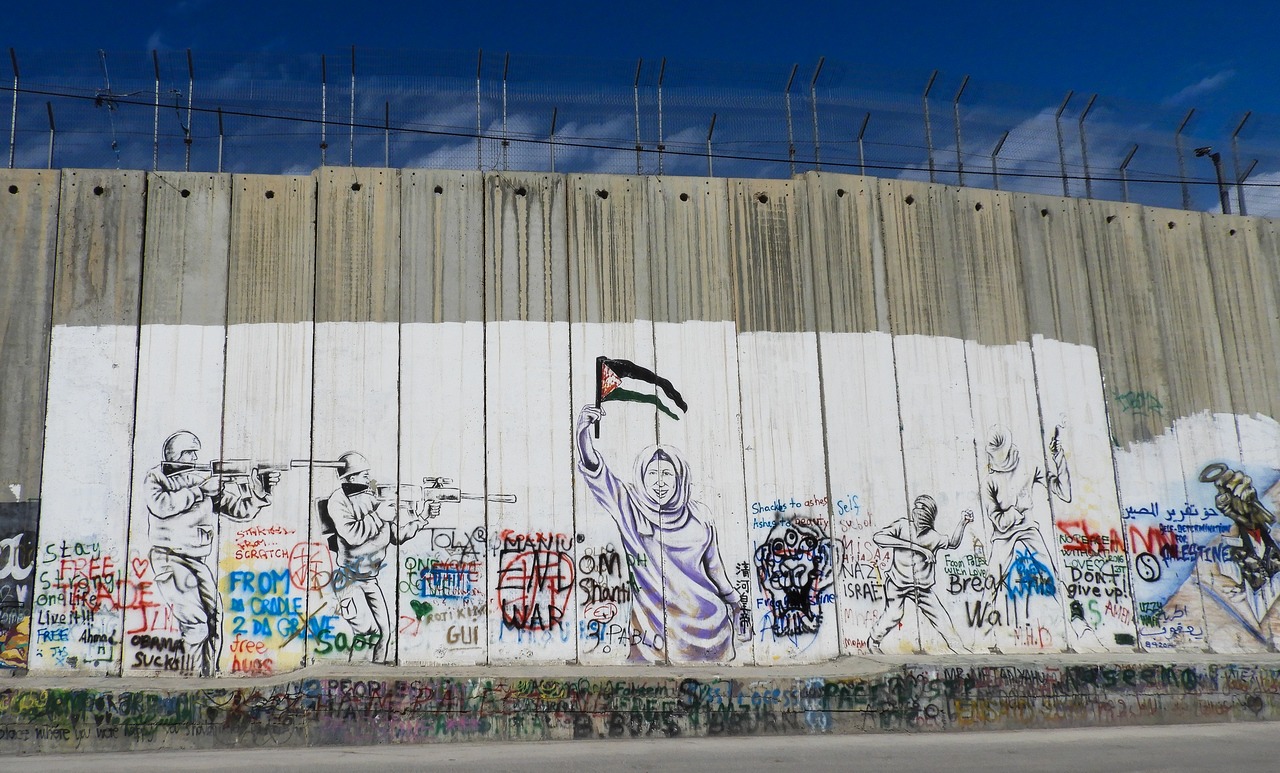 Separation wall graffiti.