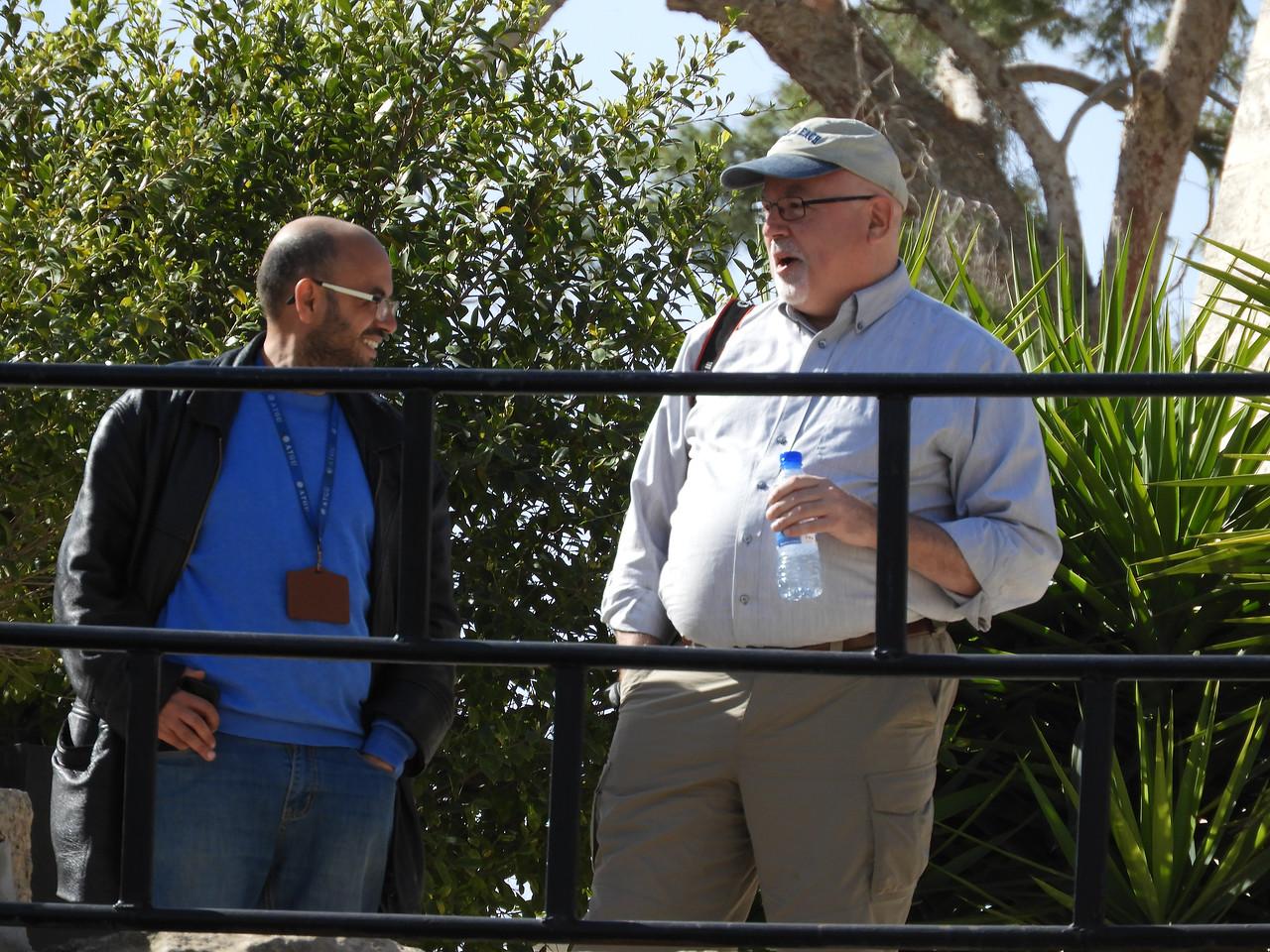 Holy Land guide - Daoud, US leader, Rev. Steve Martin