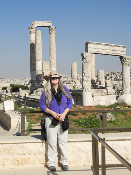 Elaine at The Citadel, Amman, Jordan