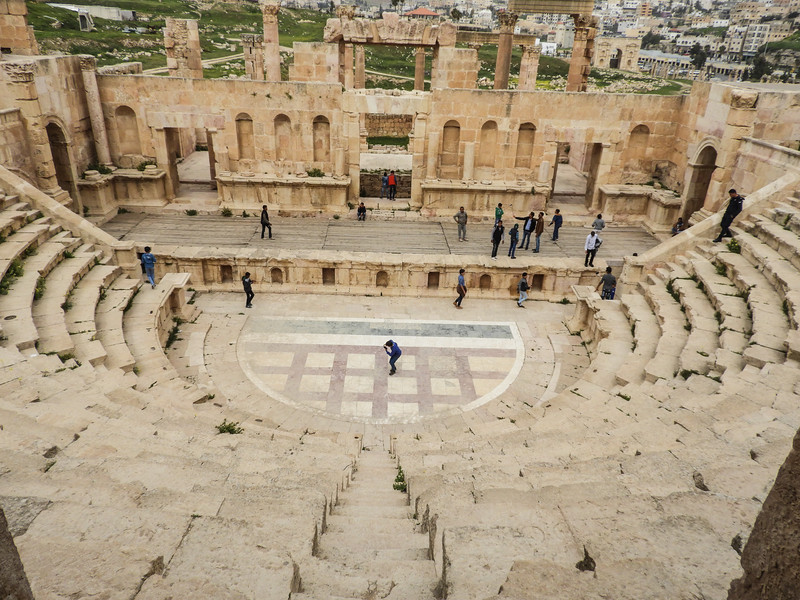 Roman amphitheater ruins at Jerash