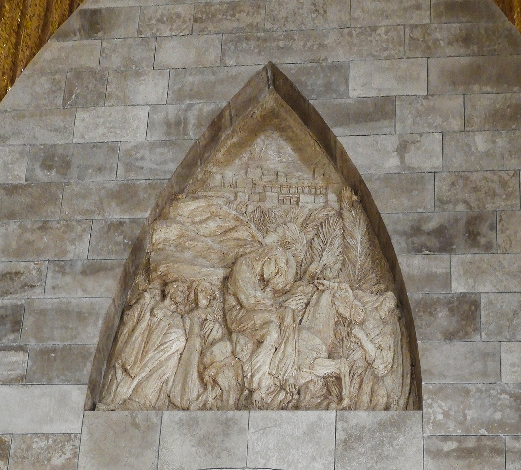 Bas relief in the Dominus Flevit Chapel