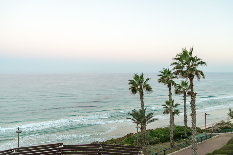 Seasons Hotel, Netanya - View from Room, Mediterranean Beach