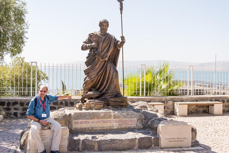 Capernaum - St. Peter Statue, Ricardo