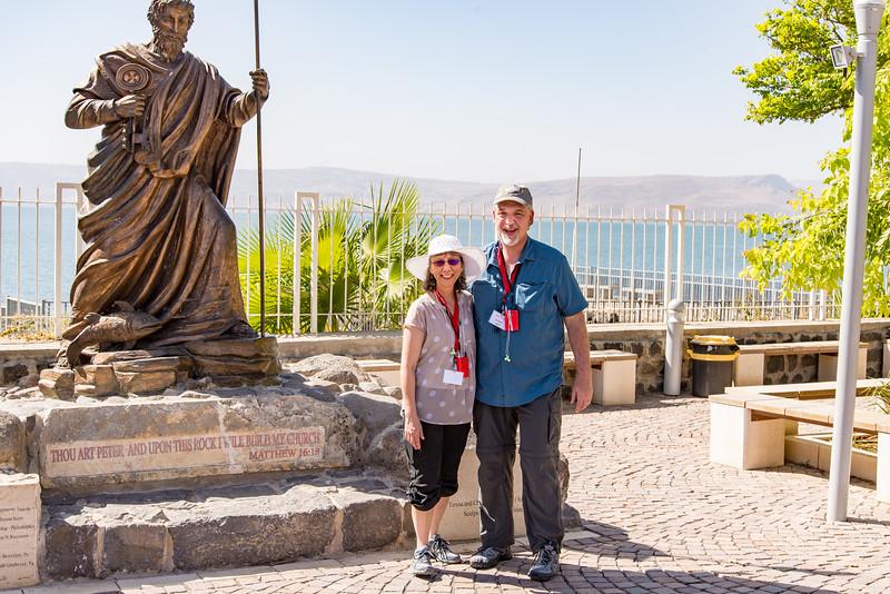 Capernaum - St. Peter Statue, Apts